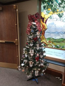 Christmas tree in the library